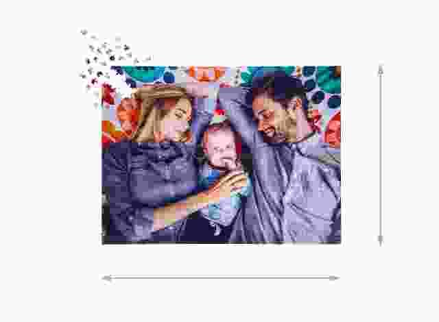 Fotopuzzle mit 2000 Teilen Gelegte Größe
