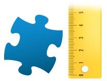 Größenverhältnis Puzzleteil Fotopuzzle 100 Teile