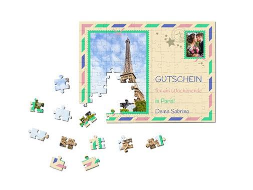 Fotogeschenk Gutschein-Puzzle