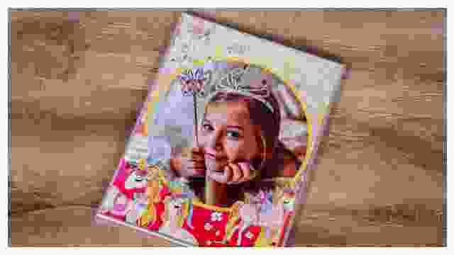 Passender Rahmen für Einhorn-Kinderpuzzles