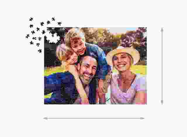 Fotopuzzle mit 1000 Teilen Gelegte Größe