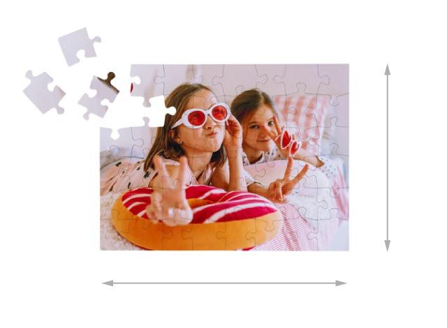 Fotopuzzle mit 48 Teilen Gelegte Größe