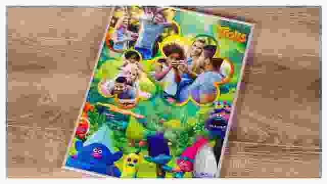 Passender Rahmen für Trolls-Kinderpuzzle