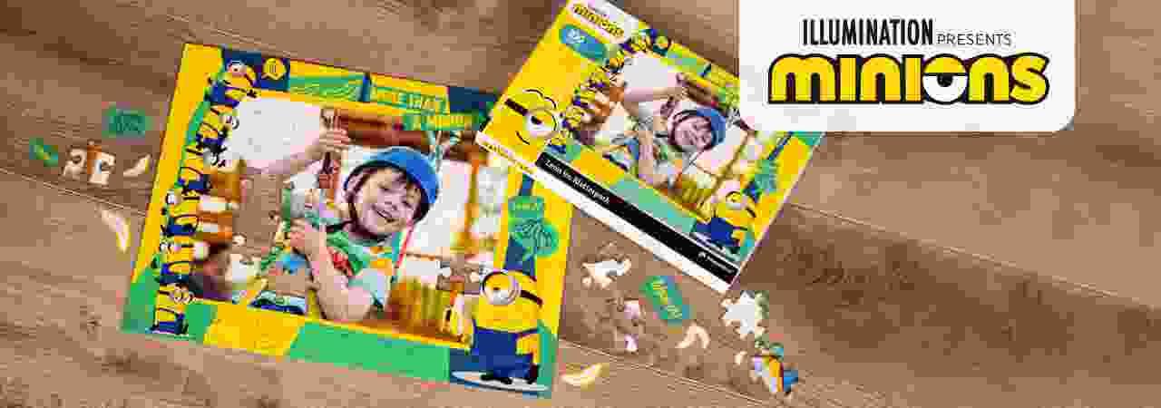 Minions Kinderpuzzle mit eigenen Fotos