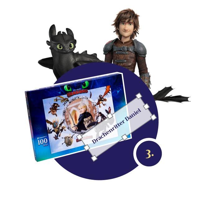 Dragons Kinderpuzzle gestalten - Schritt 3
