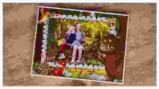 Passender Rahmen für Grüffelo-Kinderpuzzle