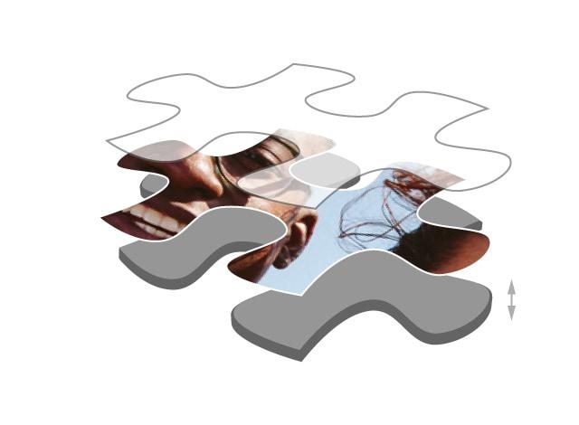 Fotopuzzle mit 200 Teilen Premium Puzzledicke