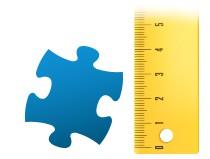 Größenverhältnis Puzzleteil Fotopuzzle 24 Teile