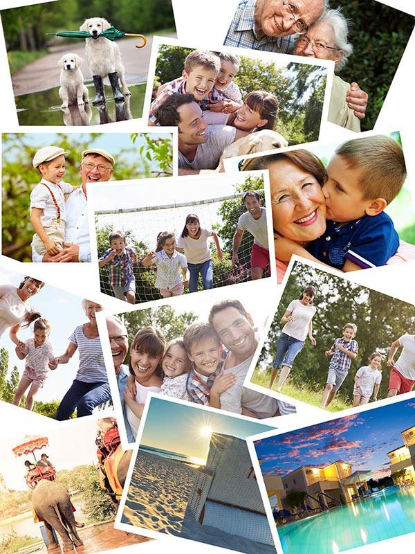 Fotopuzzle-Collagen Stapel mit 12 Bildern