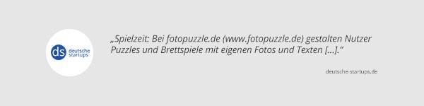 Deutsche Startups über fotopuzzle.de